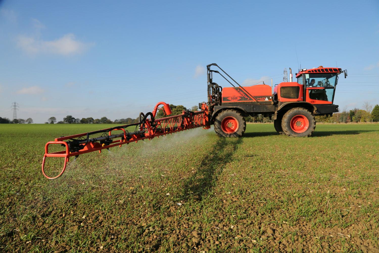 applying autumn herbicide